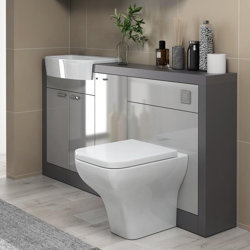 Grove 1500 Grey Vanity Unit | Buy Online at Bathroom City