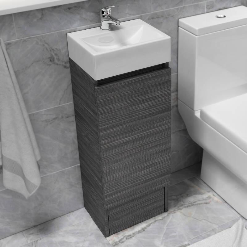 Hacienda 325 Floor Standing Vanity Unit, Corner Cloakroom Vanity Unit Uk