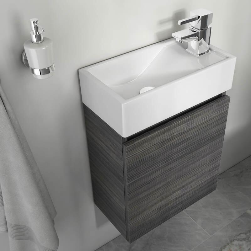 Hacienda 410 Wall Vanity Unit Grey Small | Buy Online at ...