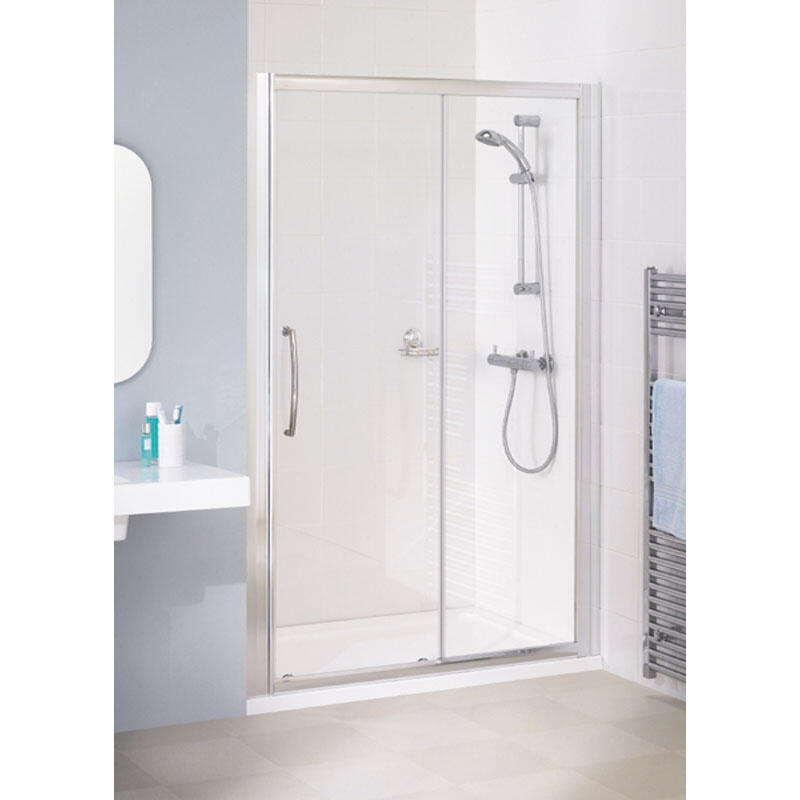 WHITE SEMI FRAMED SLIDER DOOR 1000