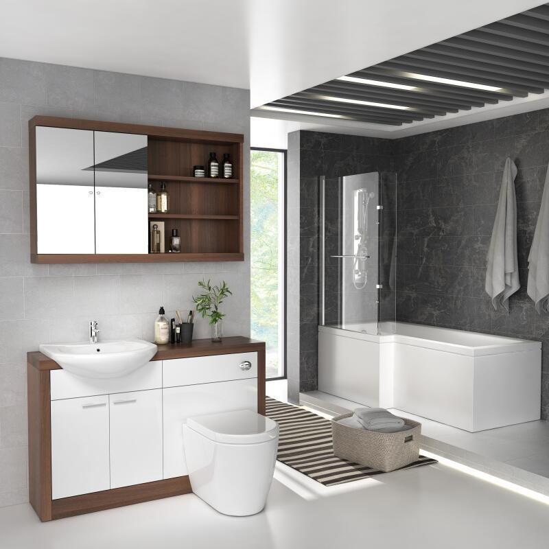 Lucido L Shape Furniture Suite White Left Hand