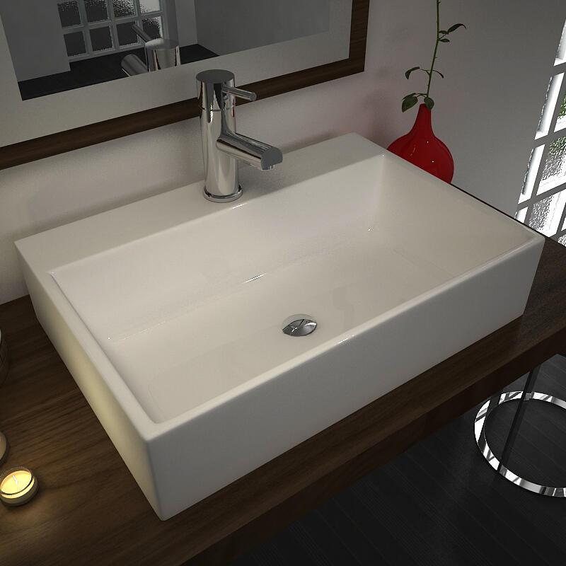Tanke Porcelain Wash Basin with 1 Tap Hole