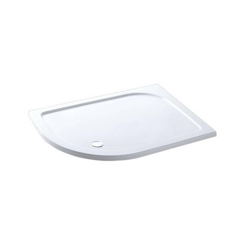Volente 1100x700 LH Quad ABS stone resin tray White