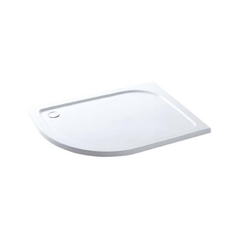 Volente 1200 x 760 LH offset quad ABS resin tray White