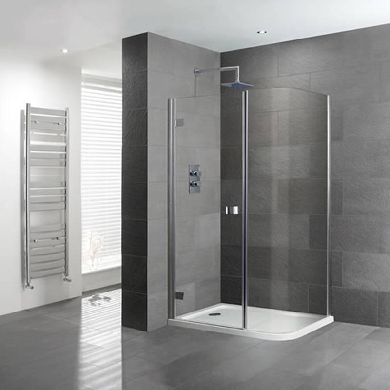 Volente 1200x800 Curved Corner Shower, Corner Shower Curved Glass Doors