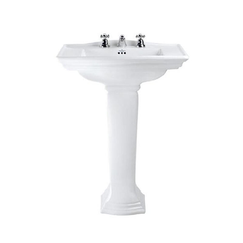 Westminster Large Basin 685mm With Pedestal White