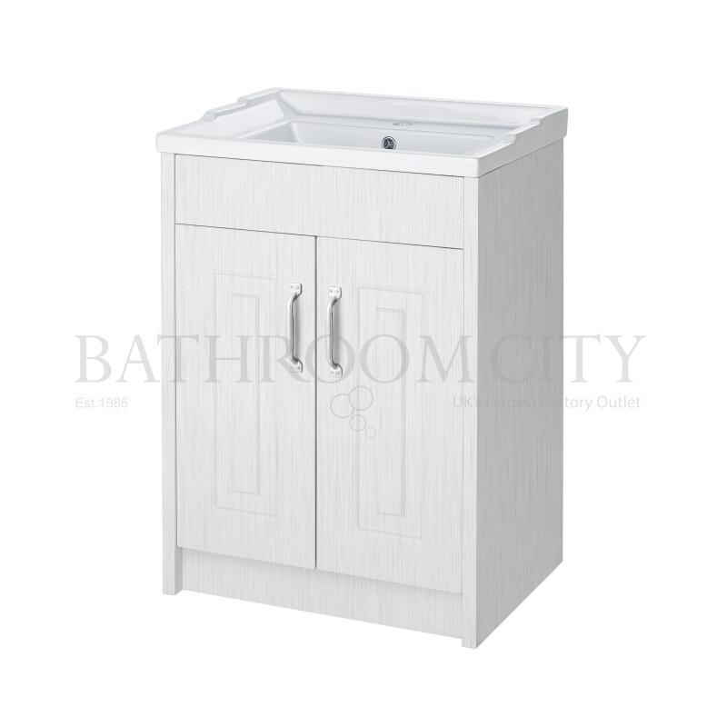 york 600mm 2 Door Basin and cab white