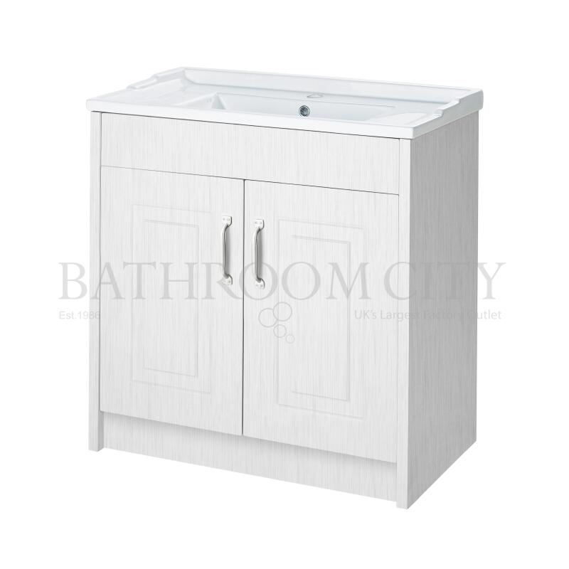 York 800mm 2 Door Basin and Cab white