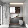 Lucido 1500 Vanity Unit Grey curved Designer Bathroom and Cloakroom