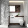 Lucido 1500 Vanity Unit White curved Ellegant and Stylish Bathroom Accessory