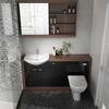 Lucido 1500 VanityUnit Black curved Fashionable Bathroom