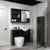 Hacienda 1200  Vanity Unit Black curved Contemporary and Stylish Bathroom Accessory