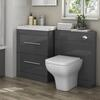 Patello 1200 Bathroom Furniture Set Grey straight Contemporary Bathroom