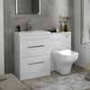 Patello 1200 Bathroom Furniture Set White straight Stylish Bathroom and Cloakroom