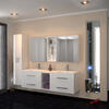 Sonix 1500 Wall hung Double Basin Vanity Unit White curved Wall Hung Stylish
