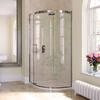 Eauzone Curved Sliding Door Corner 900mm Designer Bathroom