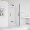 Eauzone Hinged Door with Hinge Panel for Recess 800mm Luxurious Stylish Bathroom Accessory