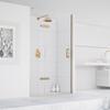 Eauzone Hinged Door with Hinge Panel for Recess 900mm Designer Bathroom