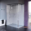 Matki Illusion Shower Door Corner Side Panel Various Raised Tray ICT