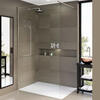 Matki One Wet Room Shower Panel with Wall Brace Bar