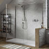 Boutique Corner with Integrated Raised Tray, Brassware and Hinged Panel for Ellegant Bathroom