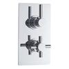 Chrome Tec Pura Thermo Twin Valve with Diverter