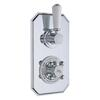 Chrome Topaz Thermostatic Twin Concealed Shower Valve