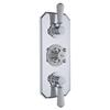 Chrome Topaz Thermostatic Triple Concealed Shower Valve
