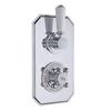 Topaz Chrome Twin Concealed Bathroom Shower Valve with Diverter