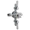 Chrome Topaz Thermostatic Triple Exposed Shower Valve