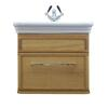 stylish  Canterbury Medium Wall Hung Vanity Unit and Basin