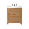 Traditional Designer Thurlestone Traditional 2 Draw Bathroom Vanity Unit Solid Wood straight basin
