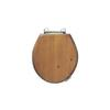 Oval Solid Wood Toilet Seat Polished Nickel Hinge (Colour Options)