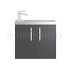 stylish  Apollo Wall Hung 600mm Compact bathroom vanity Unit and basin