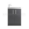 Modern contempory Apollo Free Standing 600mm Compact bathroom vanity Unit straight basin
