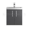 unique design Apollo Wall Hung 500mm bathroom vanity Unit and basin