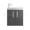 fashionable Apollo Wall Hung 500mm Compact Basin Unit and basin