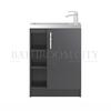 Modern contempory Apollo Free standing 600mm Compact Basin Unit straight basin