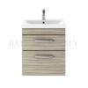 stylish  Atheana 500 Wall hung 2-Draw Bathroom Vanity unit With Basin (colour options) with a range of colour options