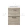 Modern contempory Atheana 600 Free standing 2-Draw Bathroom Vanity unit (colour options) straight basin
