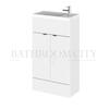 Small bathroom reduced depth combination unit