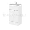 Modern contempory 500mm Full Depth Vanity Unit straight basin