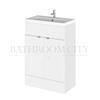 Modern Designer 600mm FD Vanity Unit Gloss (colour options) straight basin
