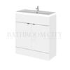 Modern Designer 800mm FD Vanity Unit straight basin