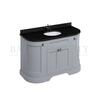 Traditional Designer Freestanding 134 Curved Vanity Unit with doors curved basin