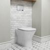 Patello Rimless Back to Wall Toilet and Ultra Thin Soft Close Quick Release Seat