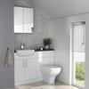 LARGE WHITE COMBINATION VANITY UNIT AND TOILET