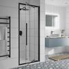Jaquar Black Shower Enclosure Inswing