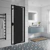 Jaquar Black Shower Enclosure Dark Glass In Swing - 179370