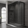Jaquar Black Shower Enclosure Offset Quadrant